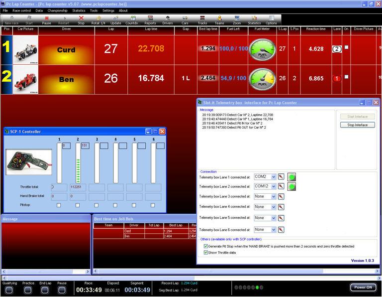slot forum pc lap counter