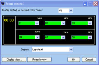 Display the gap information in the zoom window Pclc5_zoom_gap_setting